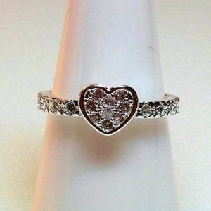 Ring Size 8 Simulated Diamond Heart 224
